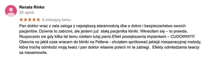 Pelleve klinika doktor Osuch opinie