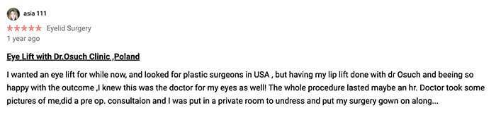 Klinika doktor Osuch chirurgia plastyczna opinie