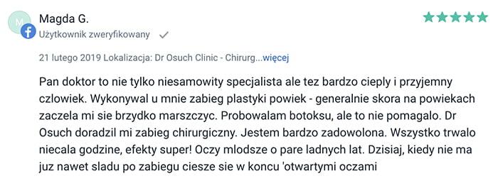 Plastyka powiek klinika doktor Osuch opinie